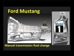 Manual Transmission Fluid Change Ford Mustang 1994 2004 And Earlier Fox Liquido De Transmision