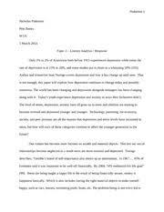 retrospective essay final pinkerton nicholas pinkerton pete  7 pages literary analysis of generation me