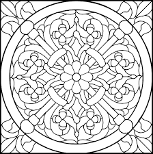 Stained Glass Rose Pattern
