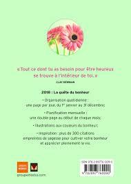 Agenda Du Bonheur 2018 Collectif 9782897760090 Books Amazonca