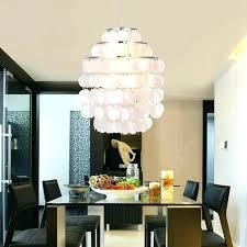 chandelier rectangular west elm capiz installation