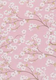 Patterned Paper Gorgeous Cherry Blossom A48 Paper Japanese Blossoms Set Onto Metallic White
