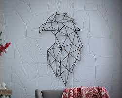 metal wall art geometric eagle head