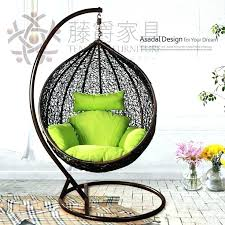 egg hammock chair furniture breathtaking indoor swing with siena hanging cushions rattan patio garden stand hanging chair
