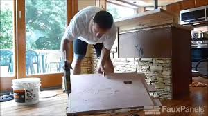 Kitchen Island Makeover Kitchen Island Makeover With Stacked Stone Panels Youtube