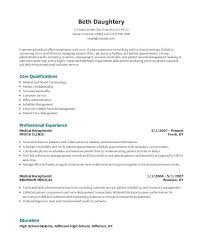 Medical Receptionist Resume Objectives Objective Do Example Law