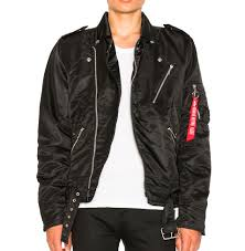 outlaw biker girls jacket by alpha industries non leather