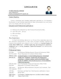 Resume Objective Career Change Example Sample Job For A Civil