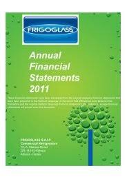 Frigoglass is a manufacturer in commercial refrigeration and west africa's leading glass producer. 10 Frigoglass