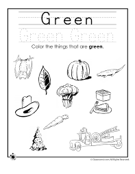 Color Green Worksheet - Woo! Jr. Kids Activities