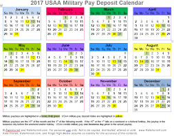 2019 Usaa Military Pay Deposit Dates With Printables