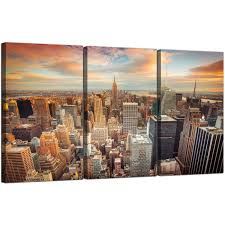 luxury ideas new york city canvas wall art home remodel cheap skyline 3 panel for your on new york city skyline canvas wall art with new york city canvas wall art japs fo