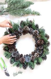 step 3 creative variations of our diy pinecone wreath