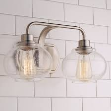 vintage bathroom lighting. Simple Vintage Seeded Globe Vintage Bath Light  2 To Bathroom Lighting