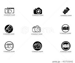 Photography Logo Vector Illustrator Blackのイラスト素材 45755842