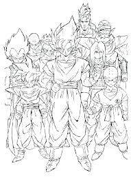 Dragon Ball Z Coloring Pages Free Printable Coloring Page For Kids