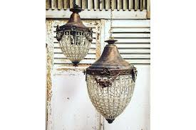 antique french chandelier vintage industrial 60cm tall photo 1