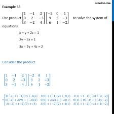 example 33 use to solve x y 2z 1 2y