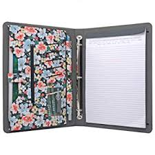3 4 Inch Binders Amazon Com Icarryalls Floral Pattern Folio Case 3 Ring Binder