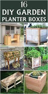 16 outstanding diy garden planter boxes