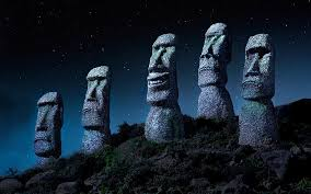 There is no single connection between stonehenge and the. Hd Wallpaper Stonehenge Easter Island Chile Starry Night Statue Moai Wallpaper Flare
