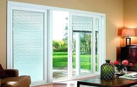 windows blinds inside glass vertical patio door sliding 3 1 2 mini between pella