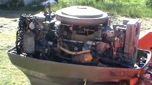 50hp johnson evinrude outboard running