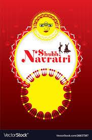 happy navratri festival banner design
