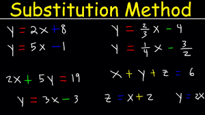 substitution method for solving systems of linear equations 2 and 3 variables algebra 2