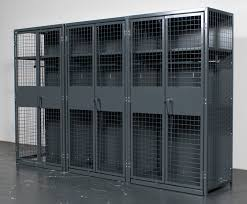 wirecrafters ta 50 military locker assembled in a row