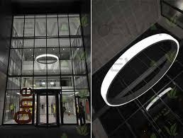 modern led ring light arcylic circle led pendant