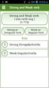 verbs english strong and weak android apps on google play verbs english strong and weak screenshot