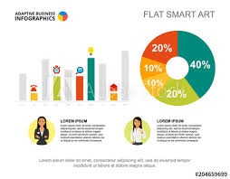 Business Infographics With Percentage Chart Bar Graph And