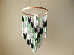 nursery mobile arrow mobile paper chandelier photo details from these photo we