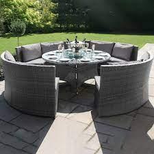 maze rattan dallas sofa dining set grey
