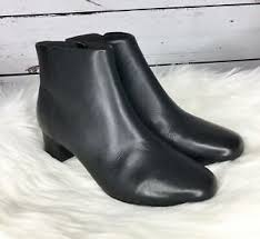 Details About Clarks Womens Chartli Lilac Black Leather Ankle Boots Booties Size 9 5m