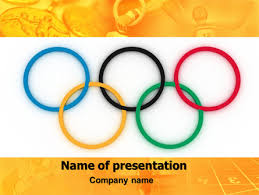 Olympic Games Rings Presentation Template For Powerpoint And