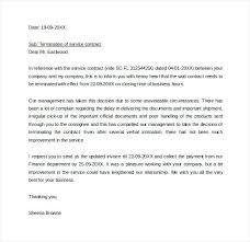 Sample Contract Termination Letter Vendor Service End