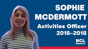 Introducing Sophie McDermott - Activities Officer 2018-2019   NCL ...