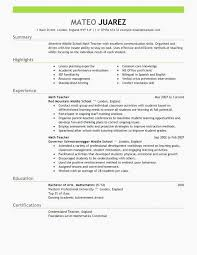 Substitute Teacher Resume Examples Examples Of Resumes Substitute
