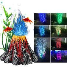 Amazon Com Air Bubbler Decorations Aquarium Led Volcano