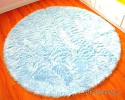blue round area rugs fascinating blue round rug blue nursery rug 4 baby blue luxury faux blue round area rugs