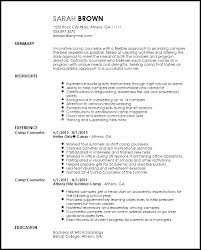 Camp Counselor Resume Interesting Resume Template For Camp Counselor Kor28mnet