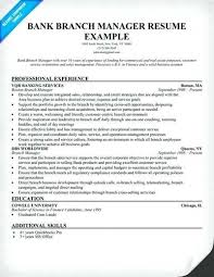 Bank Manager Resume Branch Manager Resume Objective Bank Branch ...