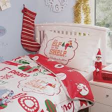 children s 100 cotton single duvet cover set elves