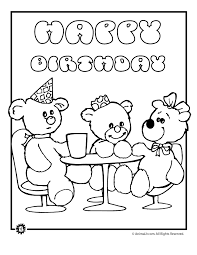 Teddy Bear Birthday Party Coloring Page Woo Jr Kids Activities