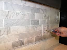 Marble Tile Kitchen Floor How To Install A Marble Tile Backsplash Hgtv