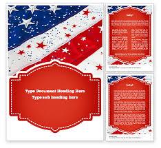 american template festive american flag word template