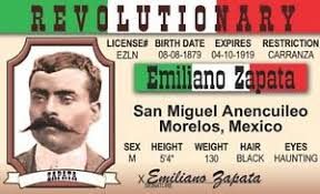 License Revolutionary Card Id Emiliano Mexican Mexico Morelos Ebay Drivers Zapata