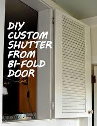 diy shutter from bi fold door